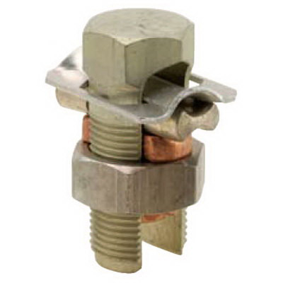 Blackburn / Elastimold 10CA Split Bolt Connector With Spacer and Washer; 2 AWG Solid-2/0 AWG Stranded, Aluminum