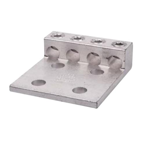 Blackburn / Elastimold ADR35-44 ALCUL Dual Rated Mechanical Lug Connector; 6 AWG Stranded - 350 KCMIL, 4 Hole Mount, Extruded Aluminum, Tin-Plated