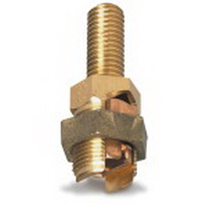 Blackburn / Elastimold SP6DL Mechanical Grounding Post Connector; 2 AWG Solid, 2/0-2 AWG Stranded, 1/2-13 x 11-1/4 Inch, Bronze Alloy