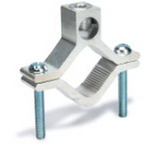 Blackburn / Elastimold AJ-2 Water pipe Grounding Clamp; 1-1/2 - 1 Inch Pipe, Aluminum, Tin-Plated