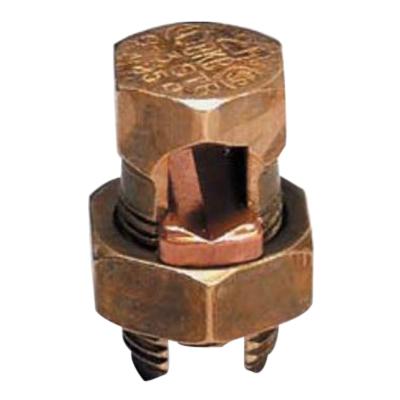 Blackburn / Elastimold 3H3 Split Bolt Connector; 8 AWG Solid-4 AWG Stranded, Bronze Alloy