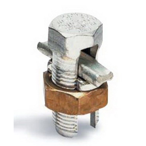 Blackburn / Elastimold 4HPS Plated Split Bolt Connectors With Spacer; 12-4 AWG Solid, 8-6 AWG, Copper Alloy