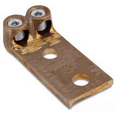 Blackburn / Elastimold TL250 Type TL Socket Screw Mechanical Lug Connector; 1/0 AWG Stranded - 250 KCMIL, 2 Hole Mount, Copper