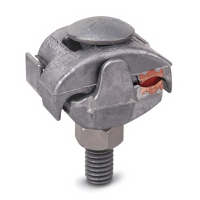 Blackburn / Elastimold PAC345 Parallel Groove Clamp With Cast Copper Liner; 8-1/0 AWG, Aluminum