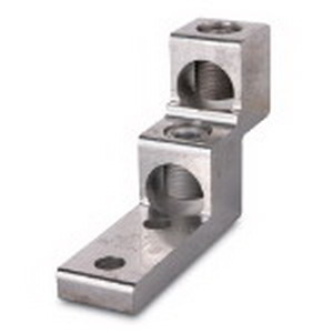 Blackburn / Elastimold ASL60-22 ALCUL Mechanical Lug Connector; 2 AWG Stranded - 600 KCMIL, 2 Hole Mount, Extruded Aluminum, Tin-Plated