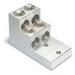 Blackburn / Elastimold ASL75-42 ALCUL Mechanical Lug Connector; 3/0 AWG Stranded - 750 KCMIL, 2 Hole Mount, Extruded Aluminum, Tin-Plated