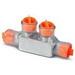Blackburn / Elastimold CSR-2/0 Multi Tap Encapsulated Cable Block; 14-2/0 AWG, 2 Ports, Aluminum