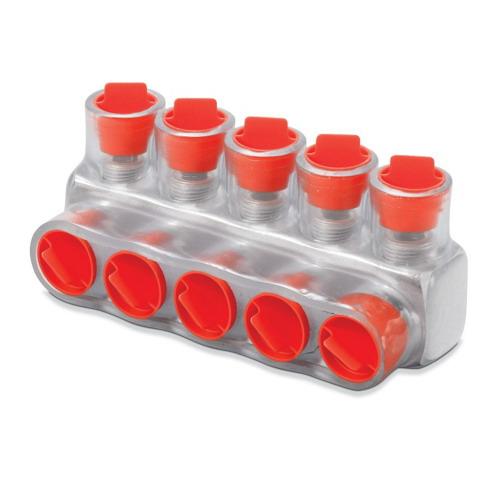 Blackburn / Elastimold CSB-2/0-2 Multi Tap Encapsulated Cable Block; 14-2/0 AWG, 2 Ports, Aluminum