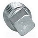 Hubbell Electrical / Killark PLUG5-SQ Square Plug; 1-1/2 Inch, Female, Iron