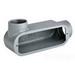 Hubbell Electrical / Killark OLB-4 Conduit Body; 1-1/4 Inch, Threaded, Aluminum, Gray