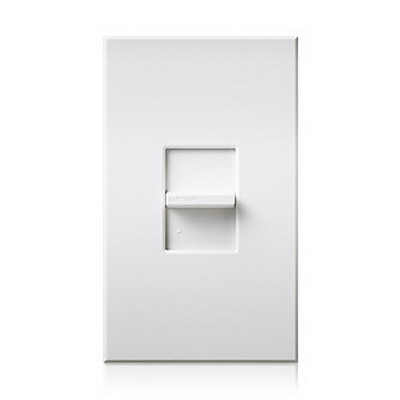 Lutron NTSTV-DV-LA Nova-T® Small Control Fluorescent Slide-To-Off Dimmer; 0 - 10 Volt DC, 30 Milli-Amp Sink, 8 Amp Load, Light Almond Color Matte Finish, Wall Box Mount