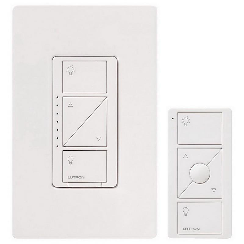 Lutron P-PKG1W-WH Caseta™ Wireless Dimmer Kit; 120 Volt, White Color