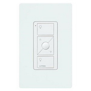 Lutron PJ2-WALL-WH-L01 Pico® 2-Button On/Off With Raise/Lower Wireless Control Wall Mounting Kit; 3 Volt DC, White Color Gloss Finish, Wall Mount
