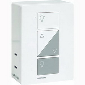 Lutron PD-3PCL-WH Caseta™ C.L™ 3-Way Plug-in Lamp Dimmer; 120 Volt AC, White Color Gloss Finish, Plug-In Mount