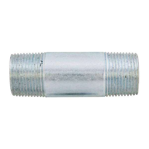 Madison N-50200 Rigid Conduit Nipples; 1/2 Inch x 2 Inch, Threaded, Galvanized Steel