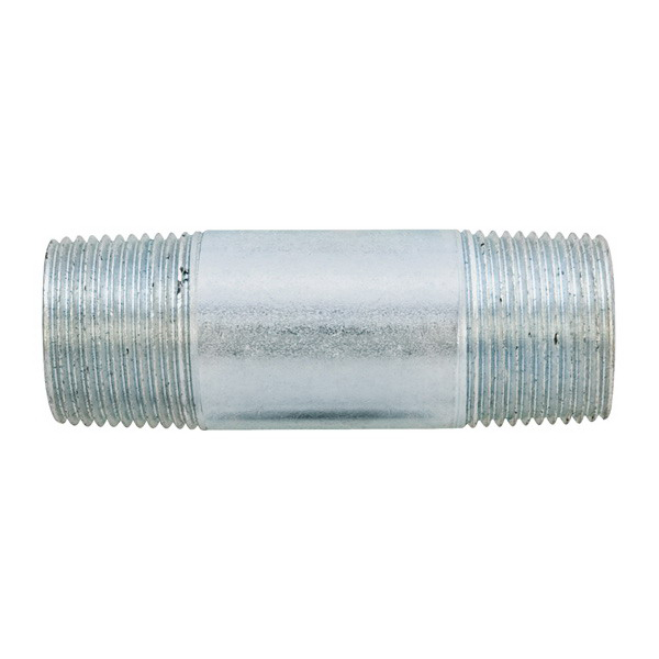Madison N-100200 Rigid Conduit Nipples; 1 Inch x 2 Inch, Threaded, Galvanized Steel