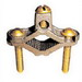 Greaves G1S-BS Grounding Pipe Clamp; 1/2 - 1 Inch Pipe, Cast Bronze High-Copper Alloy Clamp, Steel Screw, Plated Screw