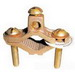 Greaves G1S Grounding Pipe Clamp; 1/2 - 1 Inch Pipe, Cast Bronze High-Copper Alloy Clamp, Steel Screw, Plated Screw