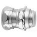 Midwest 1654 Insulated EMT Compression Connector; 1-1/2 Inch MNPT, Steel, Zinc-Plated