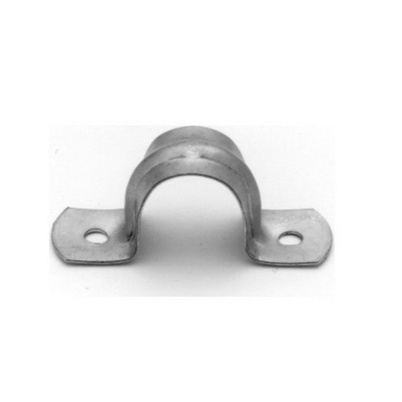 Midwest 496-2 2-Hole Strap; 3/8 Inch, Steel, Galvanized