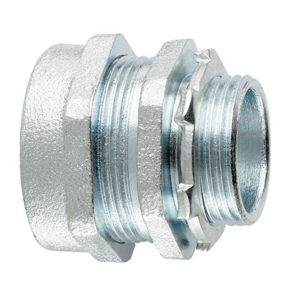 Midwest CPR2 Non-Insulated Straight Conduit Connector; 3/4 Inch, Compression x MNPT, Malleable Iron