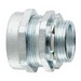 Midwest CPR9 Non-Insulated Rigid Conduit Connector; 3-1/2 Inch, Compression x MNPT, Malleable Iron