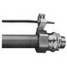 Midwest LTB50G Liquidator™ Straight Insulated Liquidtight Conduit Connector With Aluminum Grounding Lug ; 1/2 Inch, Malleable Iron, Electro-Plated Zinc