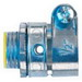 Midwest 1708DC Straight Insulated Connector; 1/2 Inch, Die-Cast Zinc, Zinc-Plated, Squeeze x MNPT