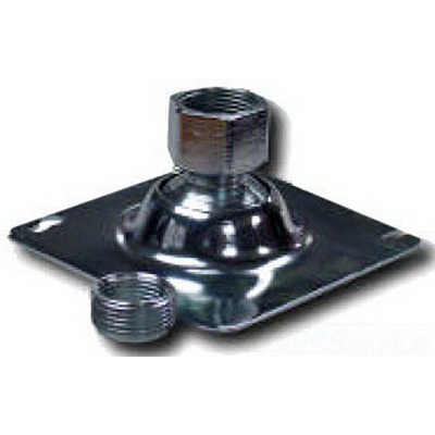 Midwest TPSFH12 Square Base Flexible Fixture Hanger; Sheet Steel, Screw-On and Nail-On Mounting