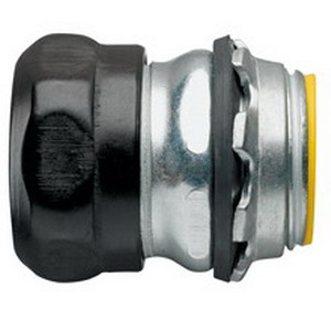 Midwest 1653RT Insulated EMT Compression Connector; 1-1/4 Inch, Steel, Zinc-Plated