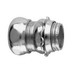 Midwest 657 Straight Non-Insulated EMT Compression Connector; 3 Inch, Steel, Zinc-Plated