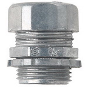 Midwest 650DC Non-Insulated EMT Compression Connector; 1/2 Inch, Die-Cast Zinc, Natural