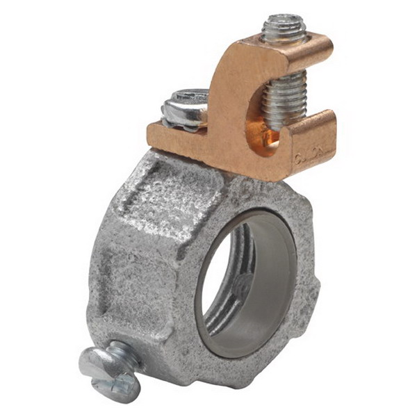 Midwest GL-20 Grounding Locknut; 4 Inch, Threaded, Steel