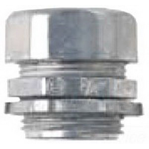 Midwest 652DC Non-Insulated EMT Compression Connector; 1 Inch, Die-Cast Zinc, Natural