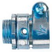 Midwest 708DC Straight Non-Insulated Connector; 1/2 Inch, Die-Cast Zinc, Zinc-Plated, Squeeze x MNPT