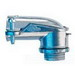 Midwest 744DC Non-Insulated 90 Degree FMC Connector; 2-1/2 Inch, Die-Cast Zinc, Zinc-Plated, Squeeze x MNPT