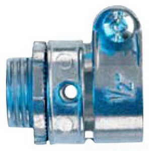 Midwest 712DC Straight Non-Insulated Connector; 1-1/2 Inch, Die-Cast Zinc, Zinc-Plated, Squeeze x MNPT