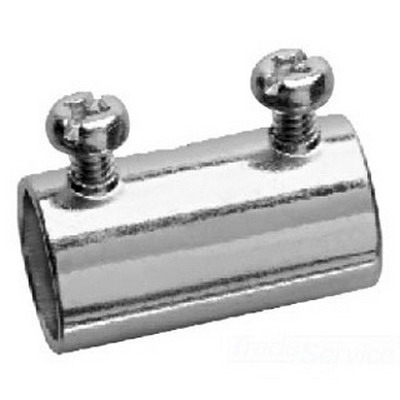 Midwest 460 EMT Set-Screw Coupling; 1/2 Inch MNPT, Steel, Zinc-Plated