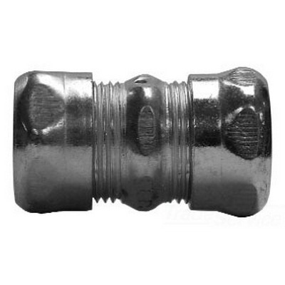Midwest 663 EMT Compression Coupling; 1-1/4 Inch, Steel, Zinc-Plated