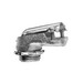 Midwest 724 Non-Insulated 90 Degree Flexible Conduit Connector; 3/8 Inch, Malleable Iron, Zinc-Plated, Clamp x MNPT