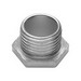Midwest 53 Conduit Bushed Nipple; 1-1/4 Inch, Threaded, Malleable Iron