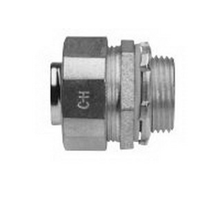Midwest LT150 Liquidator™ Straight Non-Insulated Liquidtight Conduit Connector; 1-1/2 Inch, Malleable Iron, Electro-Plated Zinc