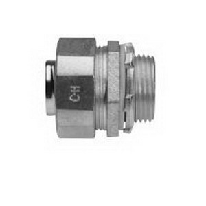 Midwest LT300 Liquidator™ Straight Non-Insulated Liquidtight Conduit Connector; 3 Inch, Malleable Iron, Electro-Plated Zinc