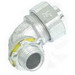 Midwest LT3890 Liquidator™ Non-Insulated 90 Degree Liquidtight Conduit Connector; 3/8 Inch, Malleable Iron, Electro-Plated Zinc