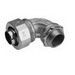 Midwest LT15090 Liquidator™ Non-Insulated 90 Degree Liquidtight Conduit Connector; 1-1/2 Inch, Malleable Iron, Electro-Plated Zinc