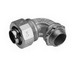 Midwest LT30090 Liquidator™ Non-Insulated 90 Degree Liquidtight Conduit Connector; 3 Inch, Malleable Iron, Electro-Plated Zinc