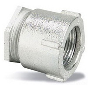 Midwest 191 Three Piece Conduit Coupling; 3/4 Inch, Threaded, Malleable Iron