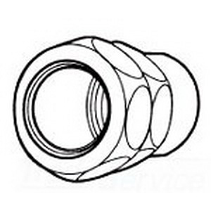 Midwest 690S Combination Set-Screw Coupling; 1/2 Inch, Zinc-Plated Steel