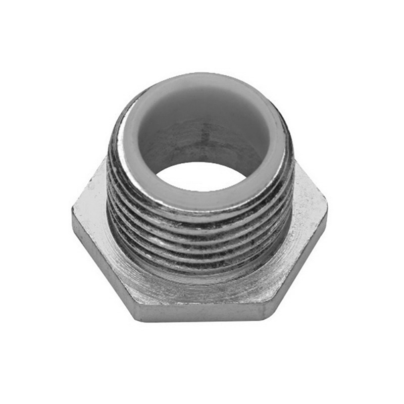 Midwest 1054 Insulated Conduit Bushed Nipple; 1-1/2 Inch, Threaded, Malleable Iron