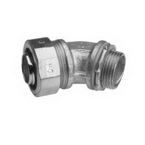 Midwest LTB25045 Liquidator™ Insulated 45 Degree Liquidtight Conduit Connector; 2-1/2 Inch, Malleable Iron, Electro-Plated Zinc
